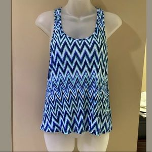 Womens Blue Aztec Racerback Tank Top Forever 21 S